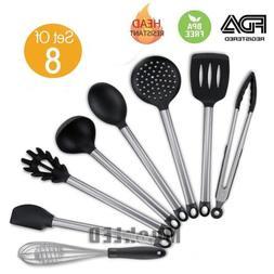 8x Kitchen Aid Nonstick Utensils Set Best Cooking Tools Stai