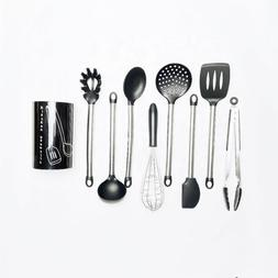 9 Piece Serving Spoons Stainless Steel Cooking Utensils Set