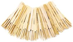 Norpro 190 72-Pack Bamboo Party Forks, Brown