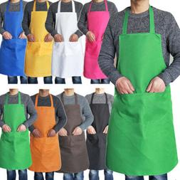 Adjustable Bib Apron Dress Men Women Kitchen Restaurant Chef