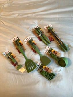 KitchenAid Aqua Green Apple Utensils Set of 7 NEW