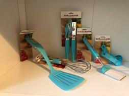 KitchenAid Aqua Turquoise Utensils Set of 5 NEW