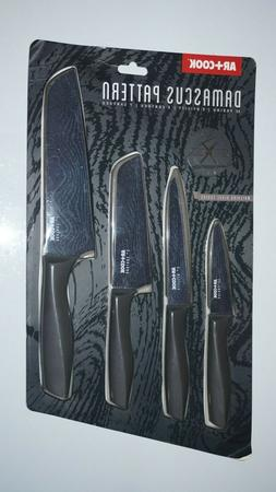 Art & Cook 4-Pc. Knife Set with Damascus Pattern | Paring &