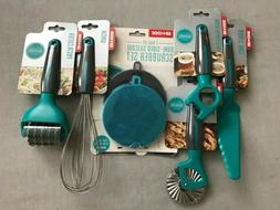 Art & Cook 6 piece Turquoise utensil set Brand New Valued at