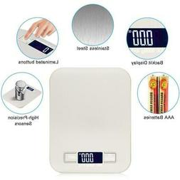 Backlit LCD Digital Kitchen Scale Cooking Weighing Food Scal