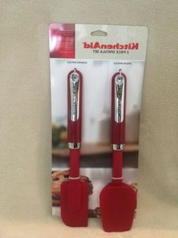 KitchenAid Baking Spoon and Scraper Spatula Set - Red - Bran
