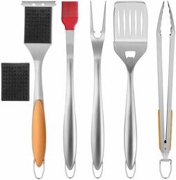 BBQ Grill Accessories 6PCS,Heavy Duty Barbecue Tools Set for