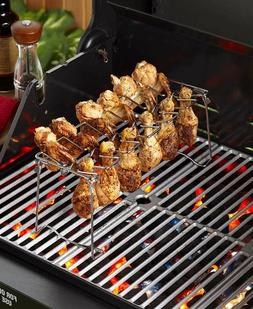 BBQ Grill Accessories - Chicken and Wing Rack Outdoor Campin