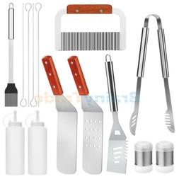 10/14pcs BBQ Grill Tool Set Grilling Accessories for Cooking