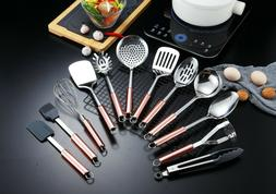 Berglander Rose Gold Stainless Steel 12 Pieces Kitchen Cook