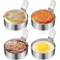 Best 4 Packs Metal Egg Rings Omelet Mold Cooking Pancake Rin