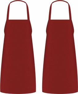 Pack of 2 Cooking Apron For Men Women Kitchen Bib Aprons 32