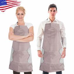 Adjustable Bib Apron Dress Men Women Kitchen Restaurant Chef