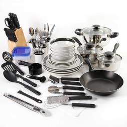Big Kitchen Cookware Cooking Starter Set Non Stick Dishes Ut