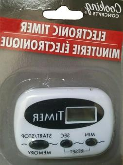 Cooking Concepts Black Digital Kitchen Electronic Timer
