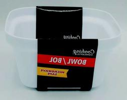 Cooking Concepts Bowl/Bol.  Microwave safe  white plastic. M