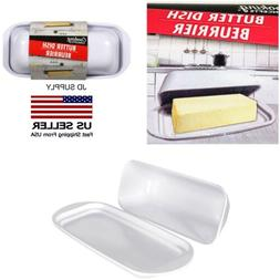 Butter Dish Single Stick White Texture /Cooking Concepts 7.3