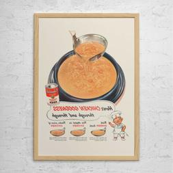 CAMPBELL'S SOUP AD - Retro Mid-Century Ad - Vintage Cooking