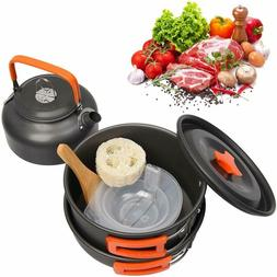 Camping Cookware Kit Outdoor Aluminum Cooking Set Travelling
