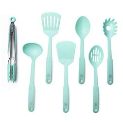 GreenLife CC001729-001 Nylon Cooking Set, 7-Piece, Turquoise