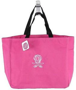 Chef Hat & Spoons Monogram Bag Bright Pink Tote Kitchen Cook