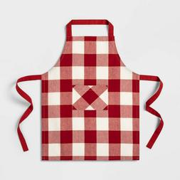 Child Cooking Apron Buffalo Check Plaid White/Red Checkered