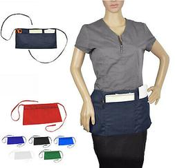 Cleaning Waist Half Bib Apron Kitchen Heavy Duty 3 Pocket Di