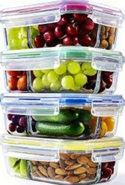 Containers for the preparation of glass meals 3 compartments