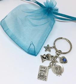 cook chef kitchen KEYRING bake gift - mixer cook book charms
