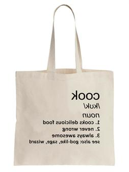 Cook Definition Funny Tote Bag Shopper Gift Food Chef Cookin