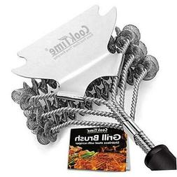 Cook Time Safe Grill Brush - Bristle Free BBQ 1PK,Bristle Fr