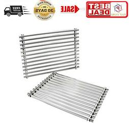 Cooking Grill Grid Grates Stainless Steel Rectangle Silver A