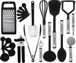 Cooking Kitchen Utensils Set Stainless Steel 23 Piece Heat R