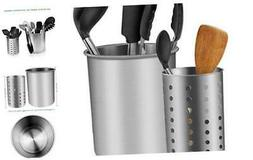 Cooking Utensil Holder, ENLOY Stainless Steel Rust Proof Lar