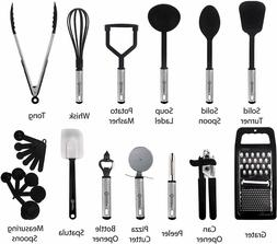 cooking utensil set 23 piece stainless steel
