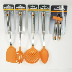 Cuisinart Cooking Utensils Orange Kitchen Nylon Pasta Spoon