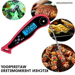 Cooking waterproof meat thermometer Digital Instant Read Fol