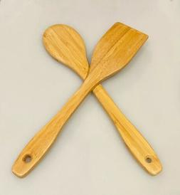 Cooking Wooden Spoon And Spatula 2pcs Wood Kitchen Tools Ute