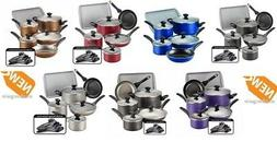 Cookware Set Non-Stick 15 Piece Pots Pans Kitchenware Kitche