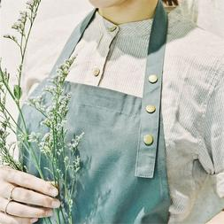 Cotton Green Aprons for Women with Pockets Kitchen Cooking A