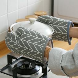 Cotton Oven Gloves Heat-proof Mitten Kitchen Cooking Baq Ove