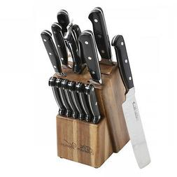 The Pioneer Woman Cowboy Rustic 14-Piece Black Cutlery Set w