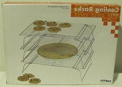 "Fox Run Craftsmen Stackable 10"" x 14"" 3 Piece Cooling Rack S"