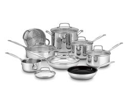Cuisinart Chefs Classic Stainless 14 Piece Cookware Set Kitc