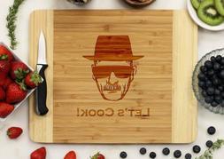 Custom Cutting Board in Bamboo, Walnut, Cherry or Oak Wood: