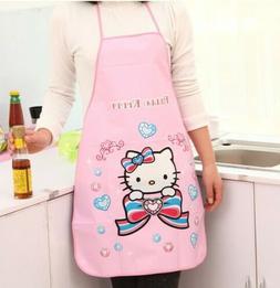 Cute Hello Kitty Apron PVC Waterproof Pink Diamond Cooking A