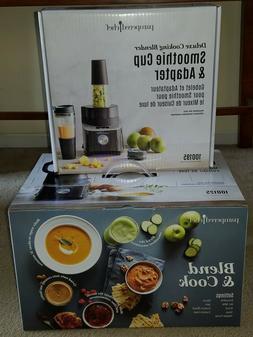 Pampered Chef Deluxe Cooking Blender + Blender Smoothie Cup