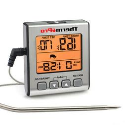 ThermoPro Digital Meat Cooking Thermometer with Timer Backli