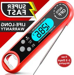 Digital Meat Thermometer Instant Read for Cooking BBQ Grilli