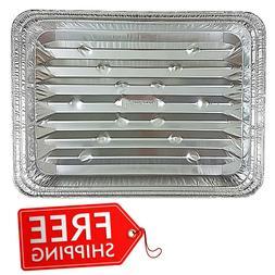 Disposable Cooking Pan Pack of 200 Aluminum Foil Broiler Kit